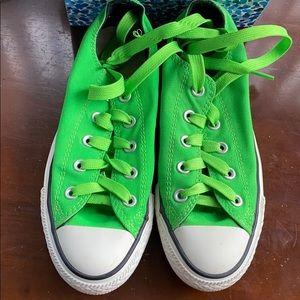 Bright green converse